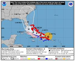 Map South Florida by Hurricane Watch Issued For South Florida Including Miami Dade