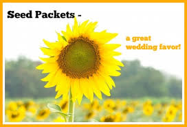 sunflower seed wedding favors wedding favor seed packets sunflowers and wildflowers