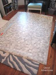 Installing Vinyl Sheet Flooring She Rolls It Out Cuts It Out And 90 Minutes Later She Has This