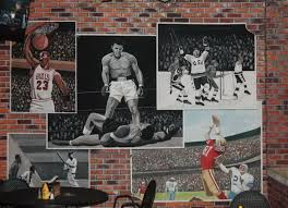 sports murals for bedrooms pin by debbie gould on murals for store pinterest wallpaper