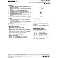 kohler k ts395 4 cp devonshire polished chrome one handle tub