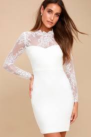 white honeymoon white bodycon dress white lace bodycon dress