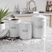 white kitchen canisters sets white kitchen canister set logischo