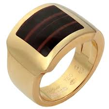cartier rings man images Cartier tiger 39 s eye men 39 s rose gold ring gold rings cartier and jpg