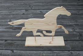 Horse Weathervane For Barn Wood Horse Weathervane Silhouette Kit Diy Unpainted Paint