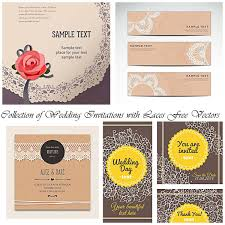 Designs For Invitation Cards Free Download Cute Wedding Invitations With Laces Vector Free Download