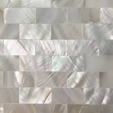 Groutless Kitchen Backsplash A18202 6 Pack Mother Of Pearl Shell Tile For Kitchen
