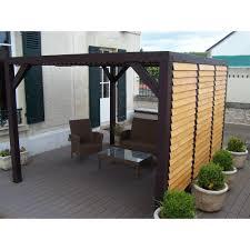tonnelle en bambou pergola en bois avec vantelles réglables toit et mur 10 86 m veneto