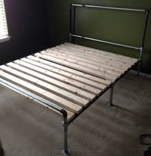 metal pipe bed frame get more diy industrial pipe project ideas