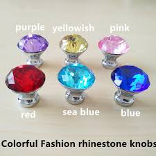 colored glass cabinet knobs colorful fashion rhinestone drawer cabinet knobs pulls yellow red