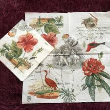 Serviette En Papier Fleur by Serviette De Table Mouchoir En Papier Motif Vintage Rouge Fleur