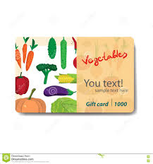 discount gift card store fruits and vegetables sale discount gift card stock vector