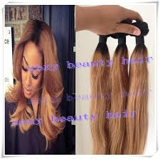 weave extensions 1b 27 honey root ombre human hair two tone