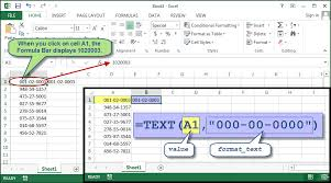 how to get excel to handle social security numbers properly