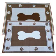 Rv Patio Rug 6x9 U0027 Doggy Bone Indoor Outdoor Reversible Rv Mat From Fireside