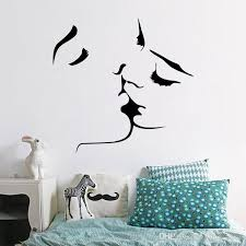 2017 selling romantic kiss wall stickers removable wall decal