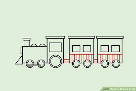 4 ways draw train wikihow