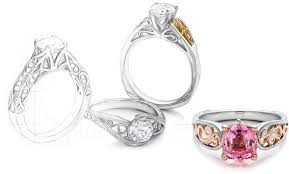 design your own engagement ring from scratch wedding rings allen halo ring creator design your