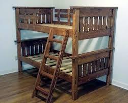 Pallet Bunk Beds Stylish And Low Cost Pallet Loft Beds Pallet Diy Furniture
