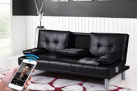 Leather Sofa Colours by New Manhattan Modern U0027sleep Design U0027 Faux Leather Sofa Bed With