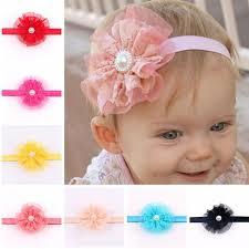 baby headband new baby headband infant flower pearl headbands girl lace headwear