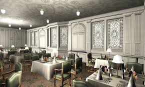 titanic first class dining room titanic 1st dining saloon v by hudizzle on deviantart