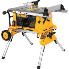 dewalt jobsite table saw accessories dewalt 10in compact jobsite table saw with rolling stand model