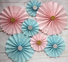 paper fan decorations pink paper fan decorations blue pinwheels party decorations