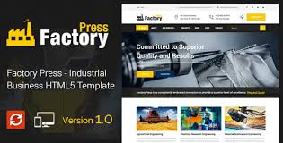 factory press industrial business html5 template by steelthemes