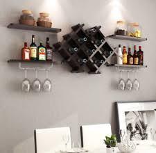 glass wall mounted wine racks ebay