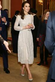 kate middleton dresses kate middleton stuns in sparkly dress at buckingham palace glam