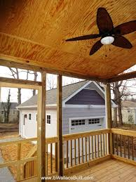 screened in back porch with ceiling fan the franklin