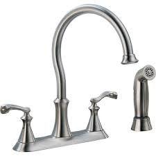 2 handle kitchen faucets delta vessona 2 handle standard kitchen faucet with side sprayer