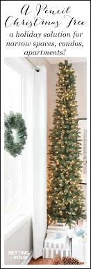 pencil christmas trees a pencil christmas tree style for narrow spaces setting for four