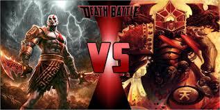 film god of war vs zeus kratos vs kharn the betrayer prelude by grinderkiller1 on deviantart