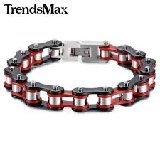 black stainless steel link bracelet images Stainless steel black motorcycle link bracelet luxemotorcouture jpg