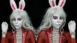 Halloween Mad Hatter Makeup by Alice In Wonderland White Rabbit Makeup Tutorial Youtube