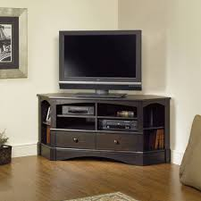 Corner Tv Cabinet For Flat Screens Sauder Black Tv Stand For Tvs With Bases Up To 39