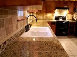 Premier Decor Tile Diy Granite Counters And Tile Back Splash Oak Cabinets Black