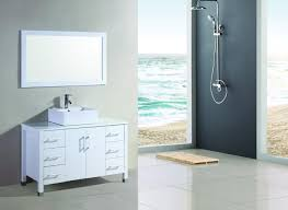 48 inch single vessel sink white bathroom vanity u 1048 w