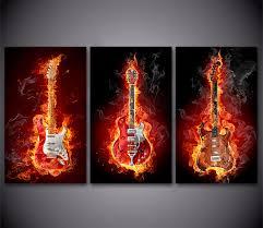 Hanging Artwork Online Get Cheap Guitar Artwork Aliexpress Com Alibaba Group