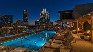 Pool Houses With Bars Austin Rooftop Pool The Westin Austin Downtown