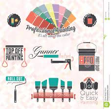 Painting Icon Silhouette Artist Painting Tools Icon Set Vector Stock Vector