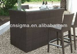 Garden Bar Table And Stools Beautiful Rattan Bar Table With 3 Pcs Patio Outdoor Rattan Wicker