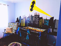 Golf Crib Bedding by Superhero Nursery With City Scape Mural Baby Pinterest