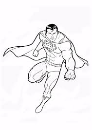 superman colouring sheets free superman coloring pages print