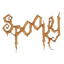 spooky wood word for altered and craft projects