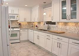 small tile backsplash in kitchen white and gray small tile back splash combined with white wooden