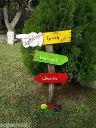 GRINCH Whoville Sign CHRISTMAS Lawn Yard Art Decoration Decor