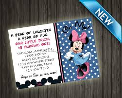 minnie mouse birthday invitations personalized best birthday